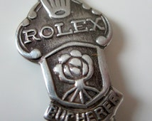 Rolex Collectible Souvenir Spoon Bucherer Lucerne Switzerland Lion Silver Plate Raised Detail
