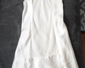 MOVING SALE - 1920's - Girls Creme Satin Slip / Dress