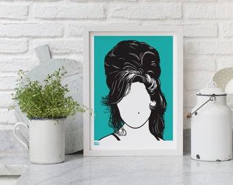 Amy Winehouse - decorative screen print