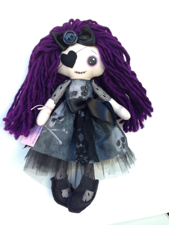 Handmade Gothic Harajuku Fashion W H Naoto Spiderweb Bag: Handmade Cloth Gothic Doll