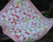 Baby Quilt Pinwheel Crib Quilt Baby Girl Patchwork Quilt