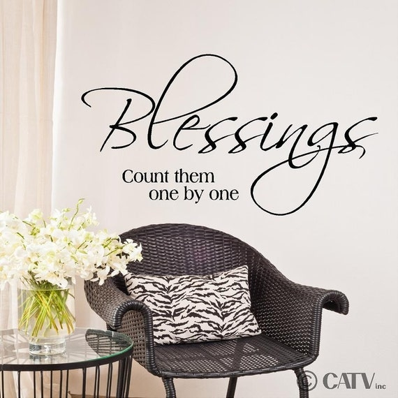 Blessings Count Them One By One Vinyl Lettering By