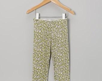 SALE 18m Olive Floral Leggings