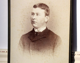Antique Cabinet Card, vintage photograph, portrait of a young man that looks like he might be a teacher