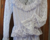 Lavender Lace Formal Gown Vintage Wedding/Victorian/My Fair Lady Costume