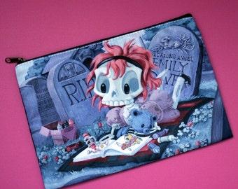 Wee Emily Dover - Cute Skeleton Girl Coloring Cosmetic Bag