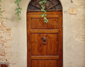 Tuscany Italy ArtItalian Door Photography of ItalyRustic DecorWooden Door Print & Rustic Door Photography Italian Door Art European Decor Pezcame.Com