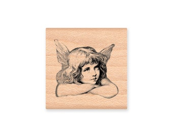 ANGEL-Vintage-Wood Mounted Rubber Stamp (MCRS 25-22)
