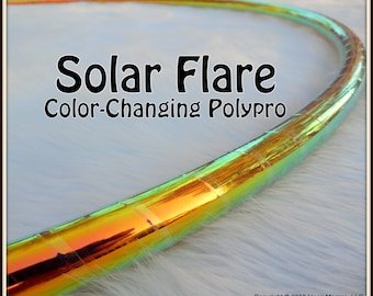 """CoLoR-CHaNGiNG 'SOLAR FLARE' Hula Hoop  - Available in 3/4"""" AnD 5/8"""" OD Polypro! Pro Hoops with Over 30,000 Sold!"""