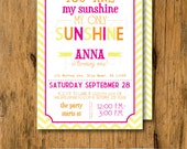 Print Your Own - You are my Sunshine Birthday or Baby Shower Invitations