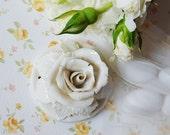 Porcelain white Rose - wedding - favour - - Traditional - Home Decor - hanging decor