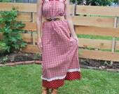 Vintage Maxi Dress Asian Style XS