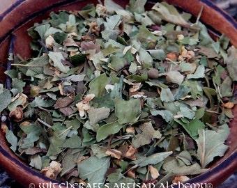 HAWTHORN LEAF and FLOWER (Crataegus monogyna) Certified Organic, Earth Kosher - Faery Magick, Nature Spirit Works, Happy Home Rituals