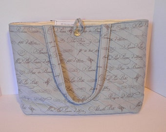 French Bebe Bleu Diaper Bag for Baby- Quilted Diaper Bag- French Baby Bag
