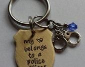 JBK My Heart Belongs to a Police Officer keychain