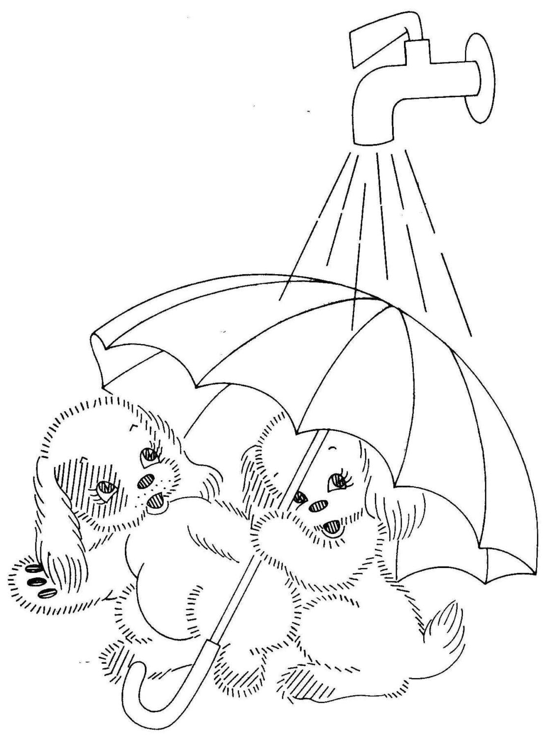 Vintage hand embroidery pattern pdf file 7259 adorable puppies - Free embroidery designs for kitchen towels ...