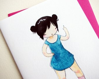 Rude Card - The Finger - Cute Blank Greeting Card with Envelope - and Attitude