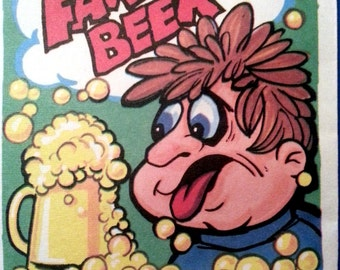 1970s Fake Beer Fizz Packets GAG NOVELTY