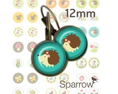 Woodland Creatures - 12mm x 12mm Round earring and pendant Images -144 images- BUY 2 GET 1 FREE