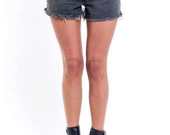 The Vintage Charcoal Grey Fade Out Levi's Shorts