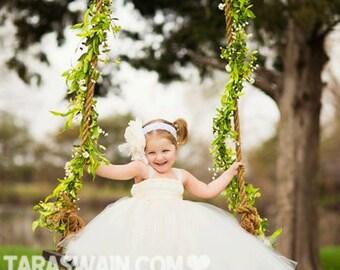 Classic Ivory Flower Girl Tutu Dress