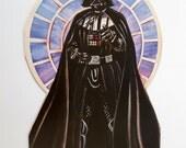 Darth Vader UNUSED Birthday Card Star Wars 1983