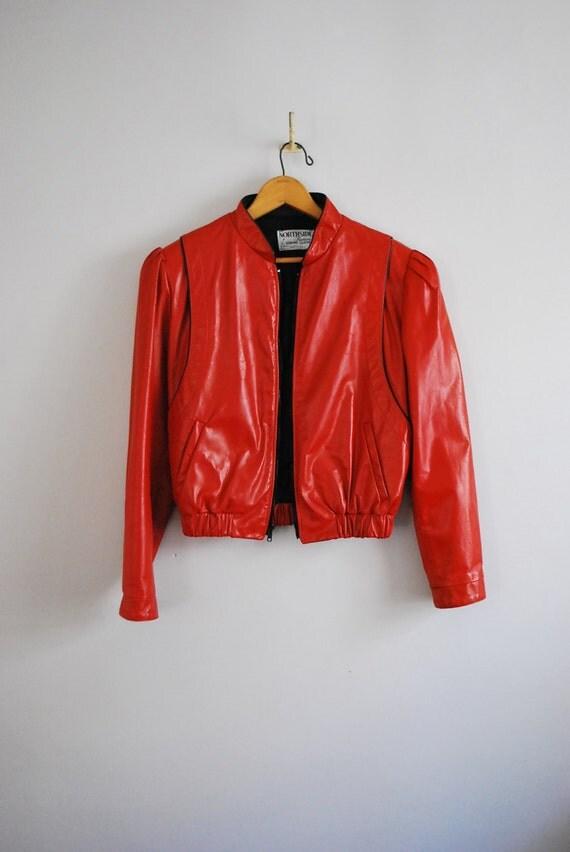 Vintage New Wave Red Leather Jacket