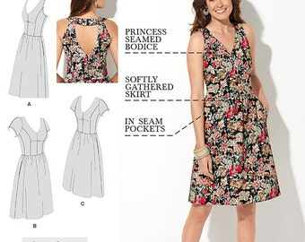 Dresses with Amazing Fit - Simplicity 1354 - New Sewing Pattern, Sizes 10, 12, 14, 16, and 18