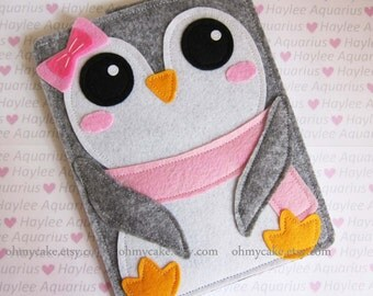 Penguin iPad Mini Case, Nook sleeve, Nook case, Nook Simple Touch case, Nook HD cover, Nook HD+ case, Nook color cover, Nook Glowlight cover