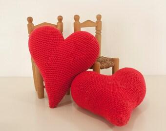 Crochet pattern heart -  amigurumi heart love pattern - Instant Download PDF by Bigunki