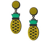 Yellow Pineapples Forever earrings