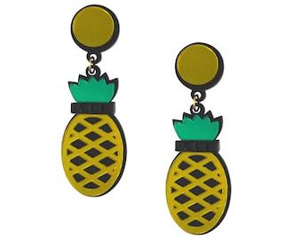 Yellow Pineapples Forever earrings