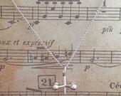Jacks (Knucklebones) necklace sterling silver