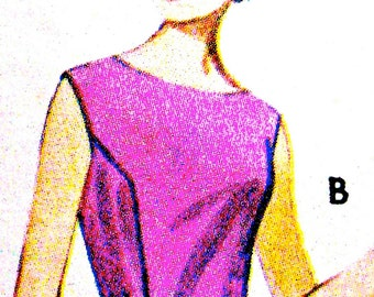 1960s Vintage Butterick 2325 Sewing Mod 60s Blouse Pattern   Bust 32 Inches