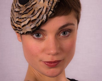 Partridge feather beret