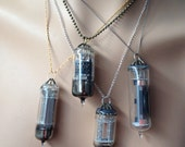 pendant made from a vintage vacuum tube