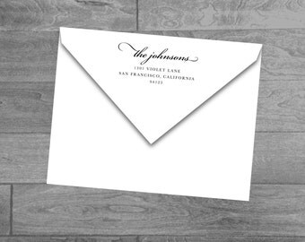 Custom Wood Mounted or Self Inking Return Address Stamp (Script Name)