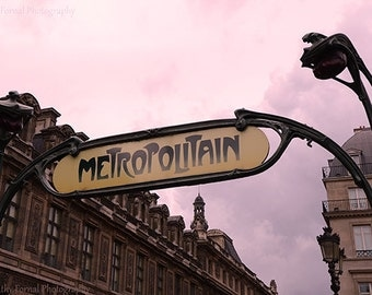 Paris Photography, Metropolitain Paris Sign, Paris Metro Wall Decor, Metro Wall Art, Paris Metro Sign Home Decor, Paris Metro Photography
