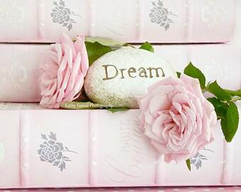 "Pink Roses Photography, Shabby Chic Decor, Pink Flower Photos, Roses Print, Shabby Chic Pink Roses Prints, ""Dream"" Baby Girl Nursery Decor"