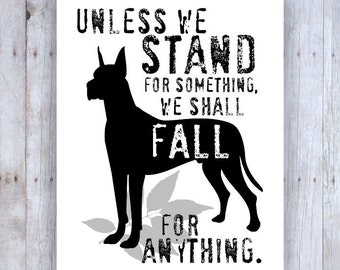 Great Dane Art, Great Dane Decor, Great Dane Poster, Great Dane Print, Inspirational Art, Dog Decor, Dog Wall Art, Motivational Quote