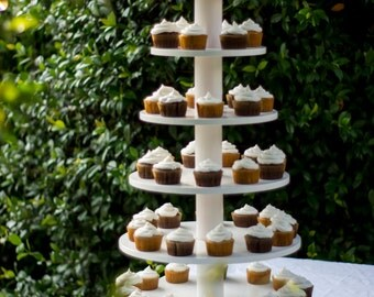 Cupcake Stand. White and Elegant,  Holds 100