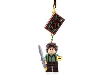 Frodo Baggins Bookmark, made from NEW LOTR LEGO (r) Minifigure