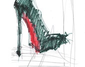 Red Bottom Shoe Print, Louboutin Stiletto