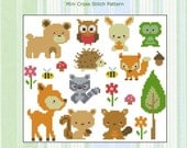 Woodland Animals Collection Cross Stitch PDF Chart