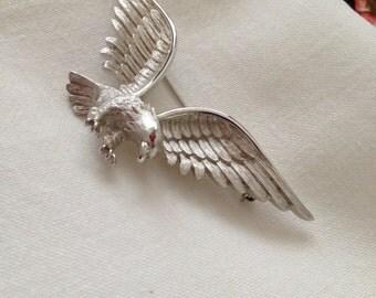 Crown Trifari Eagle Brooch
