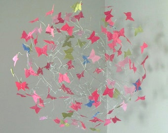 Butterfly Mobile, Baby Girl Nursery, Mobile, Baby Crib Mobile, Nursery Art