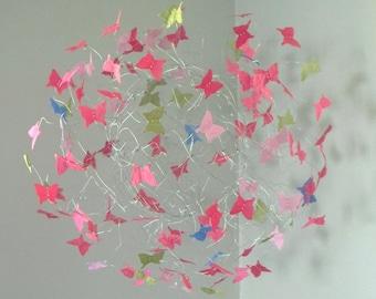 Butterfly Mobile, Baby Girl Nursery, Mobile, Baby Crib Mobile, Nursery Art