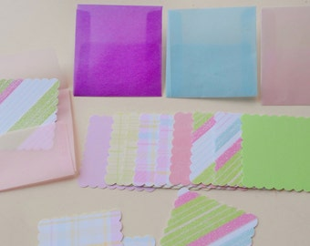 Mini vellum envelopes with notecard - set of 10