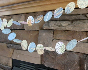 vintage map garlands
