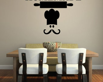 Happiness is Homemade Kitchen Wall DECAL, Kitchen Wall Decal